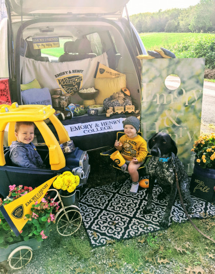 CONTEST WINNER!  From Katie Yount ('11, Harrisonburg, VA): Kid friendly tailgates require AL...
