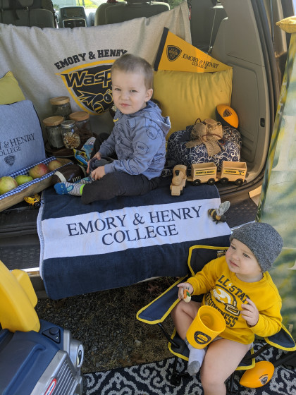 From Katie Yount ('11, Harrisonburg, VA):Kid friendly tailgates require ALL the snacks! Popc...