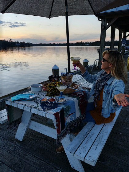 From Laura Craven Duncan '84, Hertford, NC: Our romantic little tailgate for 2 ended with a beaut...