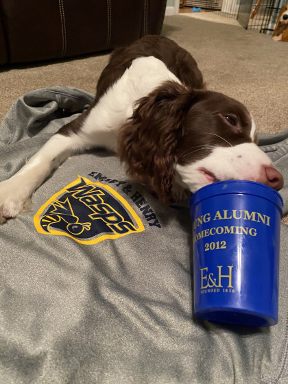 From Brent Treash '01: We all tail wag and tailgate in our own special way - peanut butter is Cop...