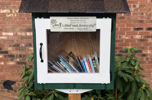 The Hunter Blake McKinney Little Free Library at Greendale Elementary School.