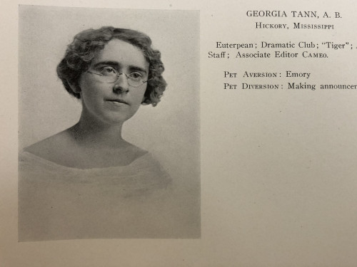 This is Georgia Tann's photo from her Martha Washington College yearbook. Her story is one of pow...