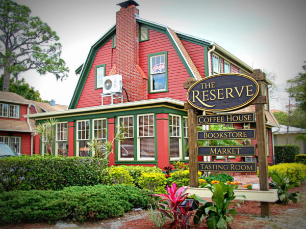 The Reserve is an eclectic coffee, book, and wine shop that also serves as a community hub in Sar...