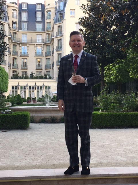 Tim Fields (E&H re'88) at the Ritz Carlton in Paris, France.