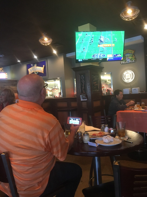 From Knoxville, Gary Jones was watching UT on the big screen and E&H on the little screen!