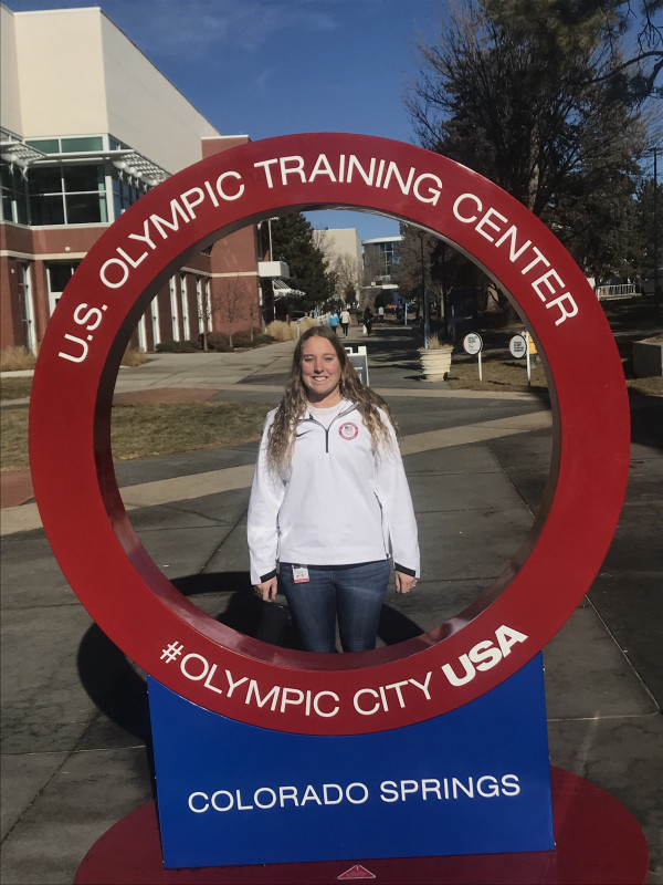 Jessica Richardson, E&H Class of 2017, at the Olympic Training Center.
