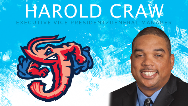 Harold Craw, E&H Class of 1999, General Manager for the Jacksonville Jumbo Shrimp.