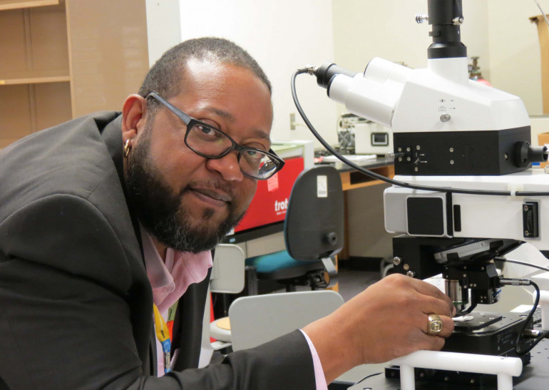 Dr. Beverly Roundtree Clark ('99) at the Clark-Shaw Lab. Bev will be making a presentation during...