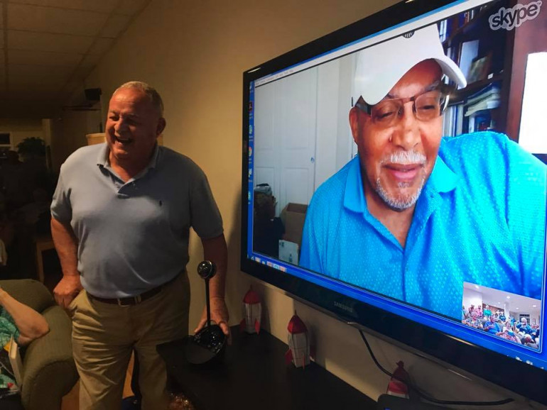 In 2017 we had a Skype visit with alumnus Scrapper Broady. He told us all about his Aunt Katherin...