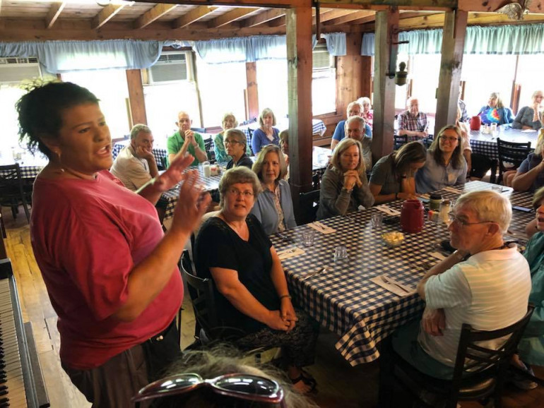 2018 MTAV participants headed to the restaurant in Shatley Springs for lunch -- and we were thril...