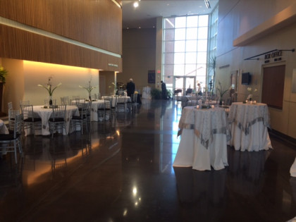 The Copenhaver Lobby offers a variety of settings including dinner and cocktail for up to 150 people.