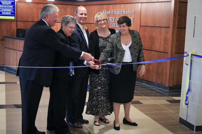 Official Ribbon cutting ceremony for the School of Health Sciences