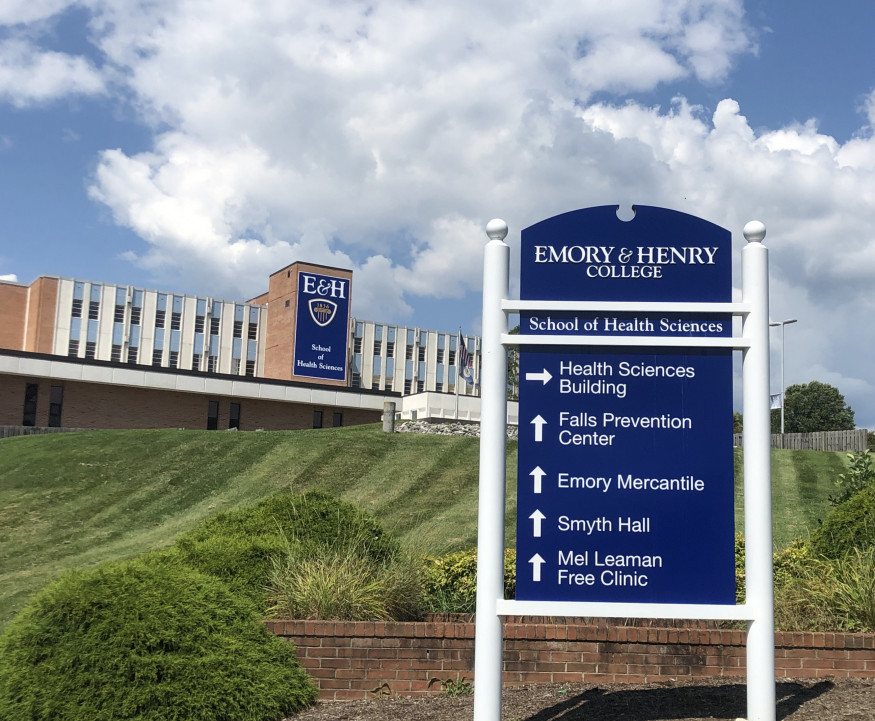 Entrance signage for E&H School of Health Sciences
