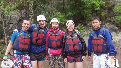 Emory Abroad students explore the backcountry.