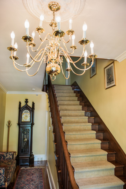 The staircase entrance at the Buchanan Blakemore Guest House.