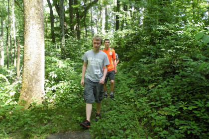 Summer Scholars enjoy a hike near Emory & Henry College Campus.