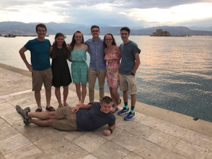 Honors scholars from the Class of 2019, Greece