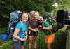 Jessica Myer (on the left) and two other Outdoor Program trip leaders