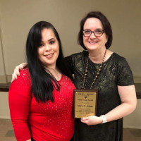 Patricia Gonzalez is pictured with Mary K. Briggs at the Social Justice Awards.