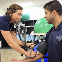 Students in the Doctor of Physical Therapy program taking assessments.