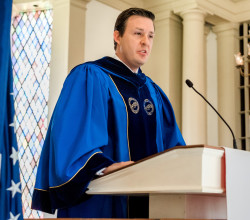 Israel O'Quinn speaks at Founders Day 2018