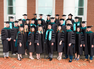 The inaugural class of the School of Health Sciences Doctor of Physical Therapy.