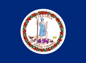 The state flag of Virginia