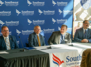 The signing of the agreement between between Emory & Henry and Southwest Virginia Community C...