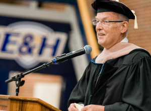 John van Vlissingen honored during commencement.