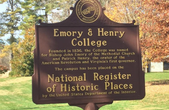 The campus' Historic Registration Plaque