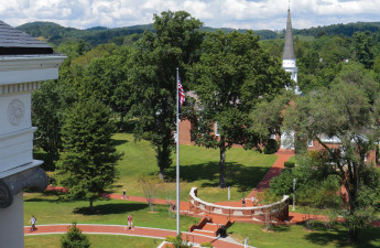 Emory & Henry College campus view pictured here was ranked as one of the best liberal arts co...