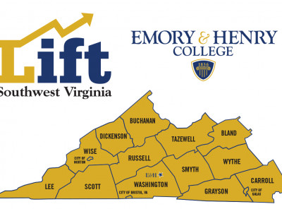 A map shows the counties, cities and towns covered by the SWVA Lift program.