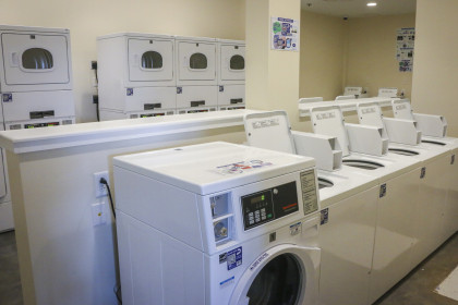 New laundry facilities can now be found in The Village Community Center.