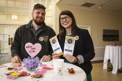 Rachael Wilbur and Dan Van Tassell feel the #EHCWebLove.