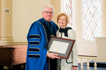"The Fred Selfe Distinctive Service to Emory & Henry Award recipient Virginia ""Ginny"" ..."