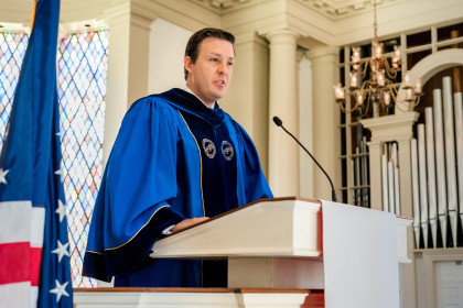 Virginia House Delegate Israel O'Quinn ('02) was the keynote speaker for Founders Day.