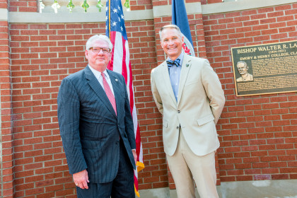 President of ETSU Dr. Brian E. Noland and President Jake B. Schrum