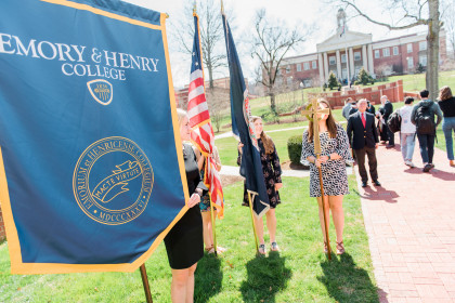 Outside Memorial Chapel on Founders Day 2019.