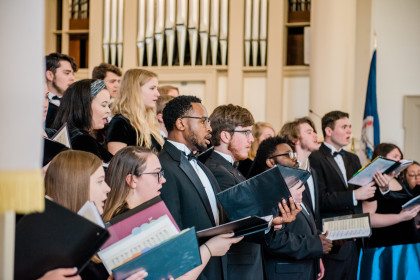 E&H Concert Choir performs at Founders Day.