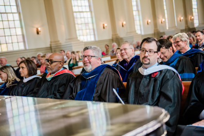 Faculty, staff, students and the community gathered for Founders Day 2019 in Memorial Chapel.