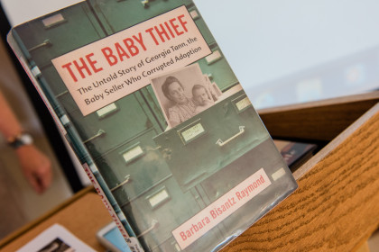 Barbara Bisantz Raymond Skyped in to discuss her book, The Baby Thief, which discusses the life a...