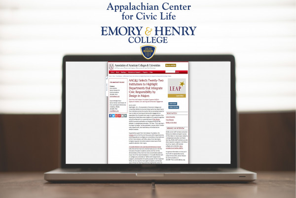 The Appalachain Center will be featured on the Association of American Colleges and Universities ...
