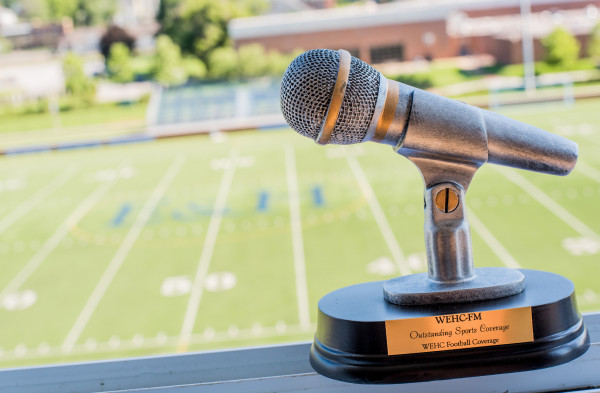The WEHC 90.7 award for outstanding sports coverage for non-commercial or public radio.