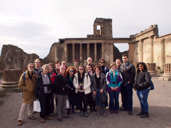 Emory Abroad classes meet at the ruins