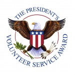 The President's Volunteer Service Award seal