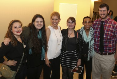 Students with Emmy-award winning actress, performer and musician Liz Callaway.