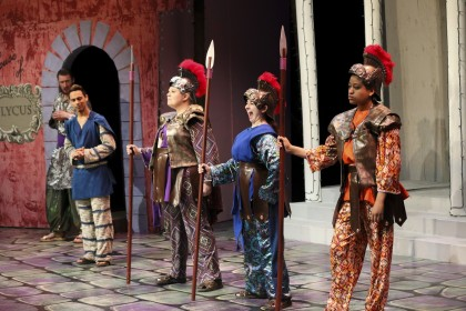 "Scenes from the Broadway classic musical comedy, ""A Funny Thing Happened on the Way to the F..."