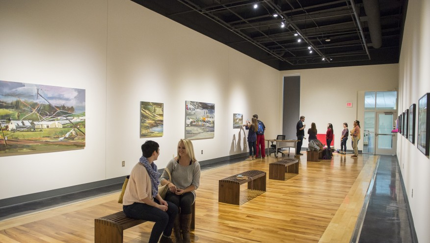 A view of the MCA Art Gallery during a recent exhibition.