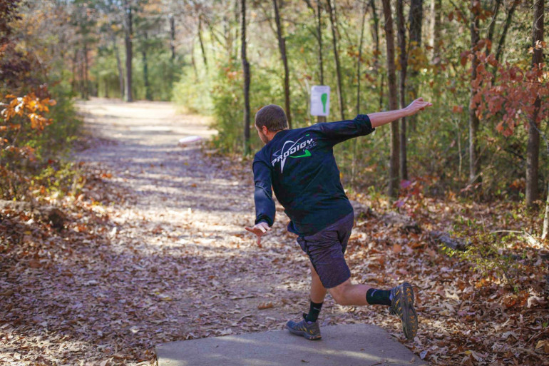 Emory & Henry has its own disc golf course on campus.