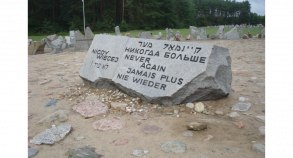 Students visit Treblinka, an extermination camp near Warsaw, Poland.